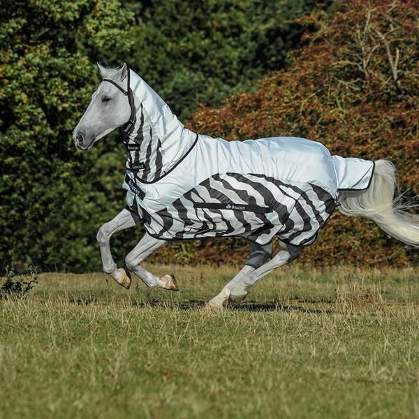 Bucas Buzz Off Rain Zebra Full Neck*