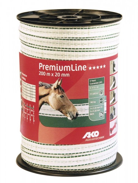 AKO PremiumLine Weidezaunband 200m x 20 mm