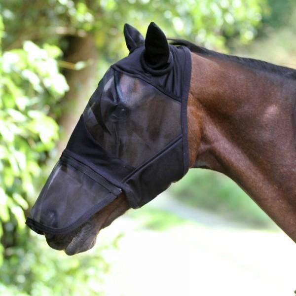 Euroriding Fliegenmaske Comfort mit Ohren Zipper Nase