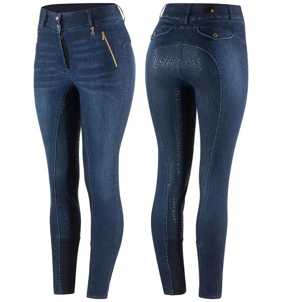 Horze Jeansreithose Nicole mit Silikonvollbesatz